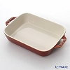 Staub (staub) rectangular dish (ceramic) It's vintage color copper 20 cm