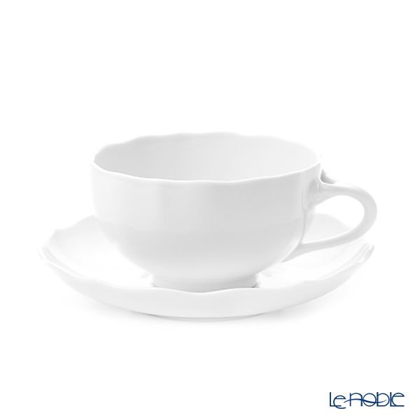 Hutchen Reuters (HUTSCHEN REUTHER) Maria Theresa White Tea Cup & Saucer 0.22L/14cm