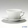 Hutschenreuther 'Barnosse' White  Low Tea Cup & Saucer 220ml
