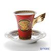 ローゼンタール ヴェルサーチ メデューサコーヒーカップ&ソーサー 180cc レッド