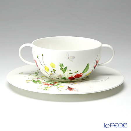 Rosenthal 'Brillance Fleurs - Sauvages' Soup Cup & Saucer 370ml