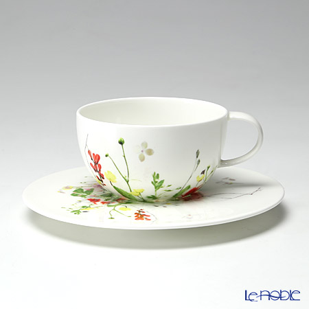 Rosenthal Brillance Fleurs Sauvages Tea-/Cappuccino cup & Saucer