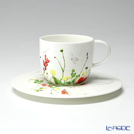 Rosenthal Brillance Fleurs Sauvages Cup & Saucer 4 tall
