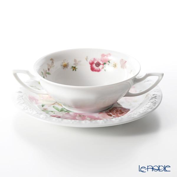 Rosenthal Maria Pink Rose Soup Cup & Saucer 270 cc