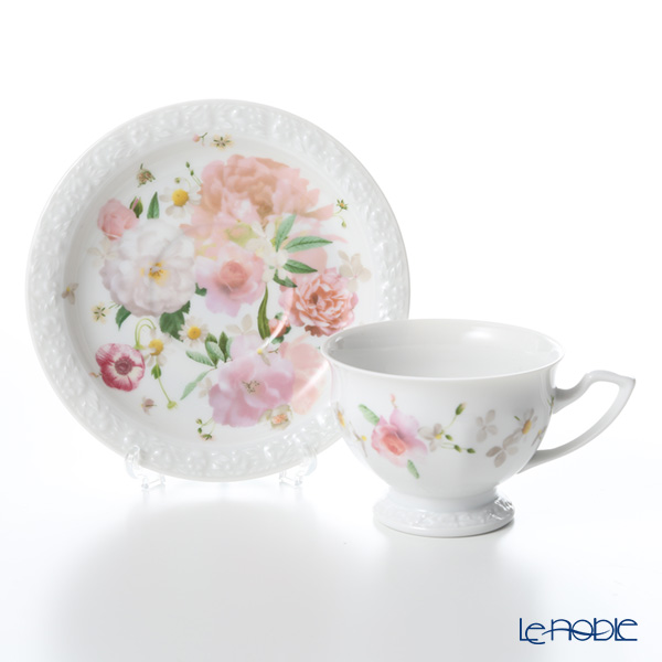Rosenthal 'Maria Pink Rose' Coffee Cup & Saucer 140ml