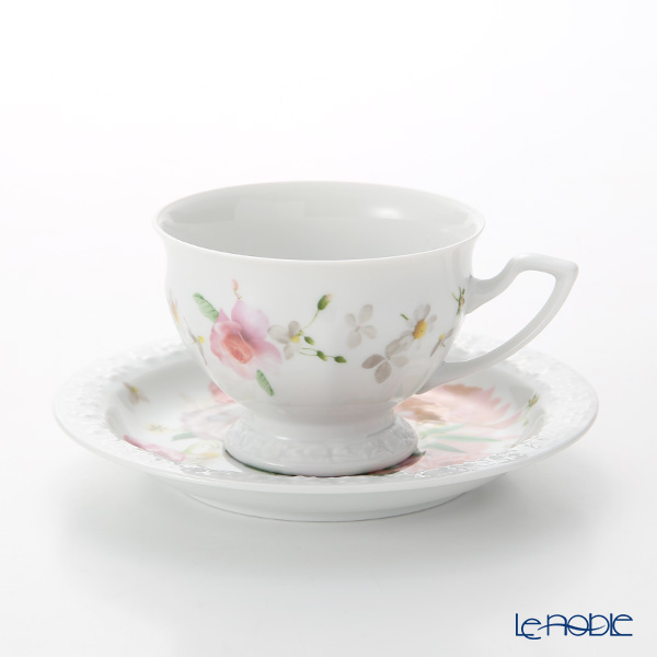 Rosenthal Maria Pink Rose Coffee Cup & Saucer 140 ml