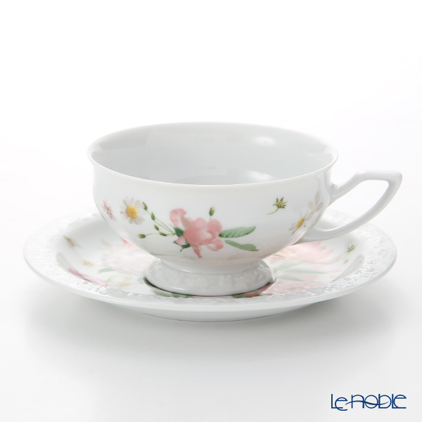 Rosenthal 'Maria Pink Rose' Tea Cup & Saucer 200ml