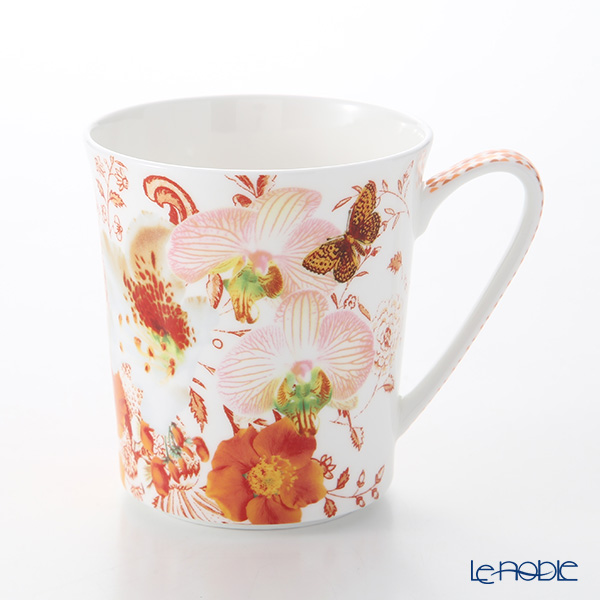 Rosenthal Belles Fleurs Mug with Handle 340 ml, oranges