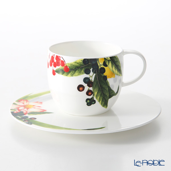 Rosenthal Brillance Les Fruits du Jardin Coffee Cup & Saucer 200 ml