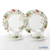 Rosenthal 'Brillance Fleurs - Sauvages' Tea Cup & Saucer, Plate (set of 4 for 2 persons)