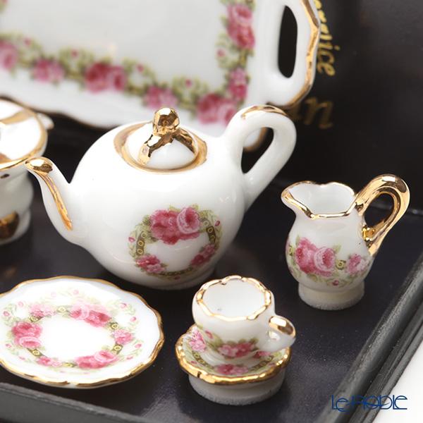 Reutter Porzellan 'Rose Band' 001.345/8 Miniature Tea set