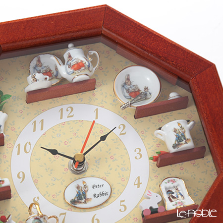 Reutter Porzellan 'Beatrix Potter - Peter Rabbit' 056.668/0 Miniatures Octagonal Wall Clock 22cm