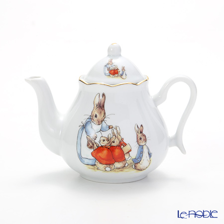 Reutter Porzellan 'Beatrix Potter - Peter Rabbit & Friends' Children Tea set in Book box (set of 7 for 2 persons)