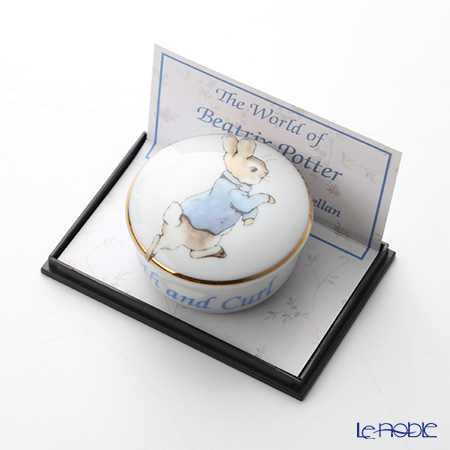 ロイター・ポーセリン ビアトリクスポター 54310/0 ラウンド ピータートゥース&カール(乳歯&産毛)ケース