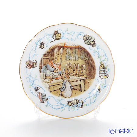 Reutter Porzellan 'Beatrix Potter - Peter Rabbit 150th Anniversary' 55.561/3 Plate 10cm with plate stand