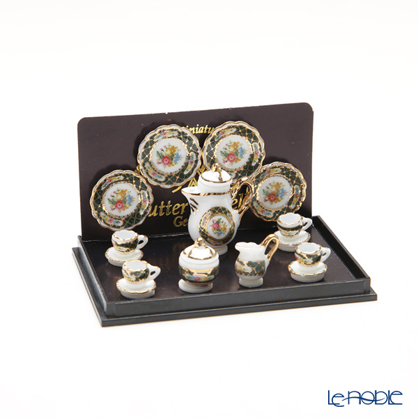 Reutter Porzellan 'Irish Gold' 001.354/6 Miniature Coffee set