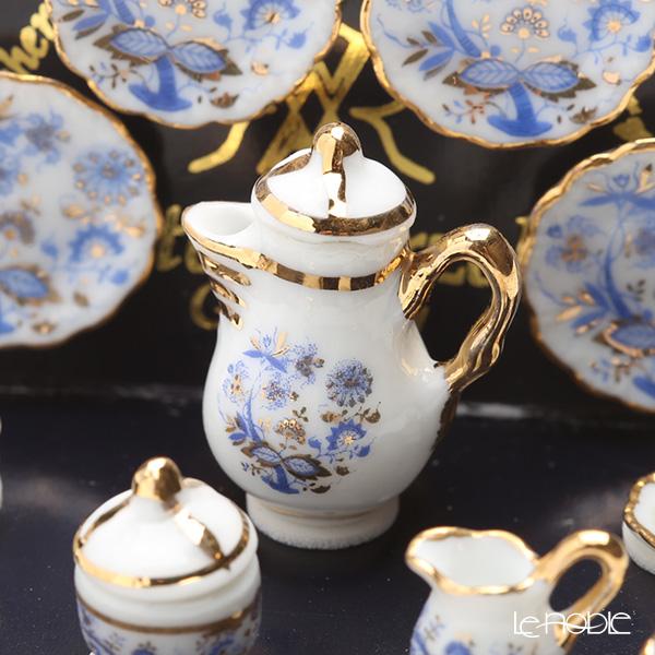 Reutter Porzellan 'Gold Onion' 001.363/6 Miniature Coffee set