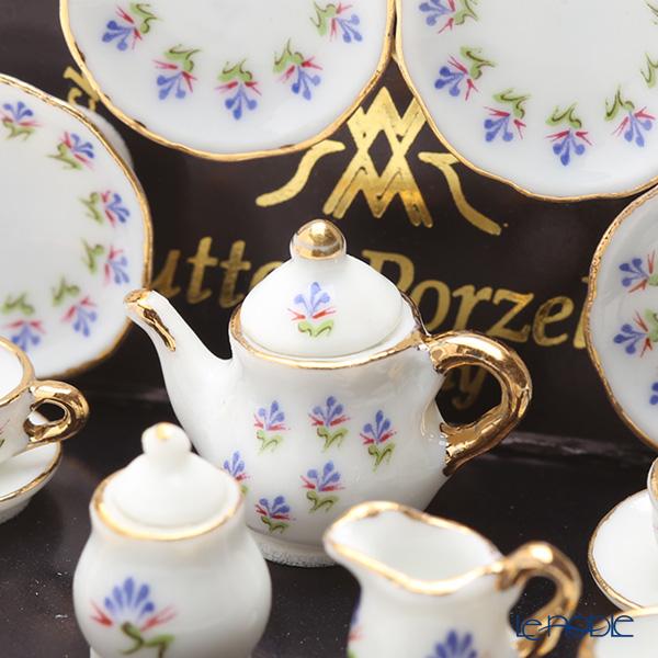 Reutter Porzellan 'Blue Floral' 001.364/6 Miniature Tea set
