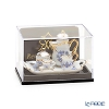 Reuters, porcelain gold onion 001.642 / 5 Miniature coffee tray set