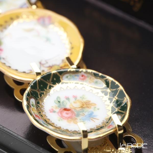 Reutter Porzellan 'Classic Rose' 001.389/6 Miniature Plate with Rack