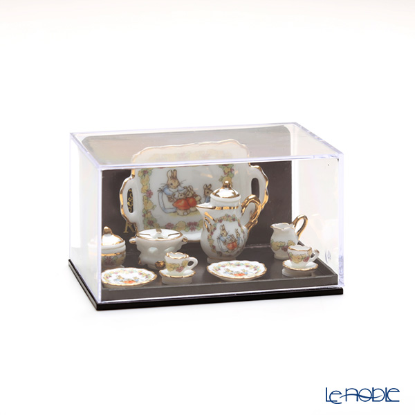 ロイター・ポーセリン ビアトリクスポター 057.361/6 フラワー ミニチュア ティートレイセット