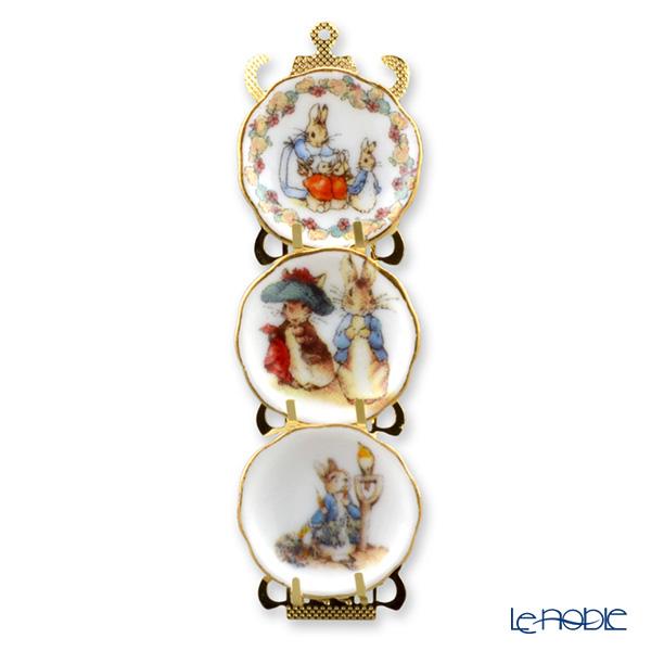 Reutter Porzellan 'Beatrix Potter - Peter Rabbit' 056.389/6 Miniature Plate with Rack
