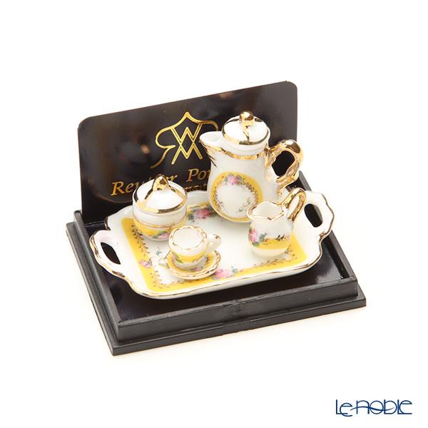 ロイター・ポーセリン フレンチ ローズ 001.649/5ミニチュア コーヒートレイセット