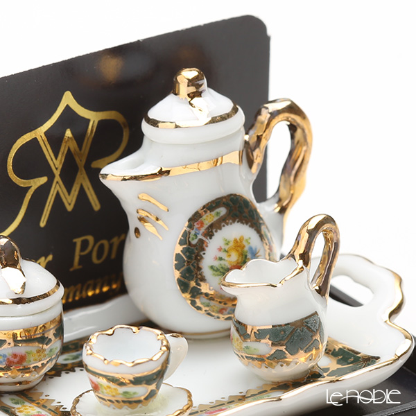 Reutter Porzellan 'Irish Gold' 001.646/5 Miniature Coffee set