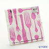 Embossed paper towels PPD L15 31210L cutlery White x pink 33 x 33 cm 15-pieces
