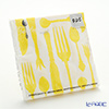 Embossed paper towels PPD L15 31212L cutlery white x yellow 33 x 33 cm 15-pieces