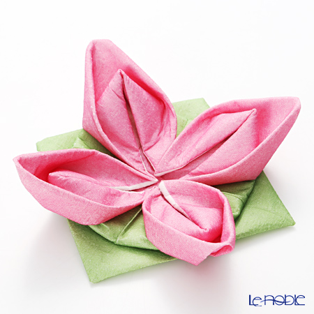 Paper+Design オリガミペーパーナプキン 33503 スイレン ピンク/グリーン 40×40cm 12枚入