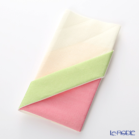 Paper+Design オリガミペーパーナプキン 33506 カトラリーバッグ イエロー/グリーン 40×40cm 12枚入