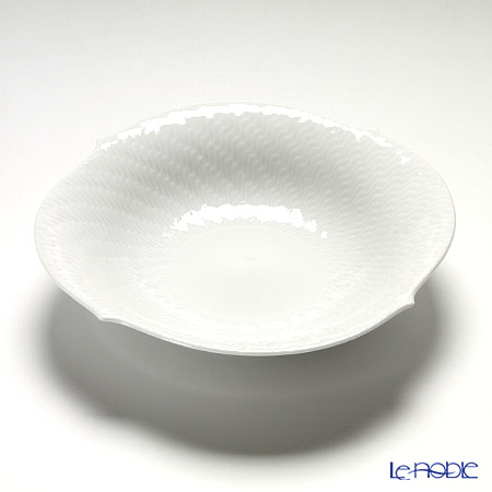 Meissen 'Waves Relief' White 000001/29439 Bowl 21.5cm