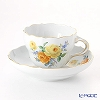 Meissen Yellow rose and forget-me-nots, Coffee Cup & Saucer 200 cc, Shape