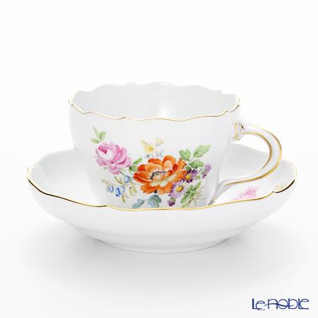 マイセン(Meissen) フラワーブーケ 220110/00582 コーヒーカップ&ソーサー (200cc)