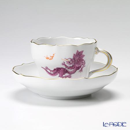 マイセン(Meissen) ドラゴン パープル 332410/00582 コーヒーカップ&ソーサー 200cc