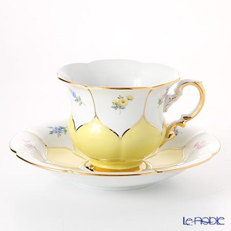 マイセン(Meissen) 宮廷の小花 013098/16582 コーヒーカップ&ソーサー 200cc(黄金彩)