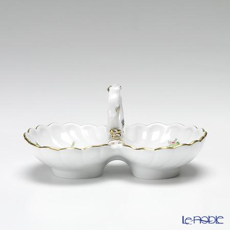 マイセン(Meissen) ピンクのバラ 020110/00204薬味/レモン入れ H5cm/L11.5cm