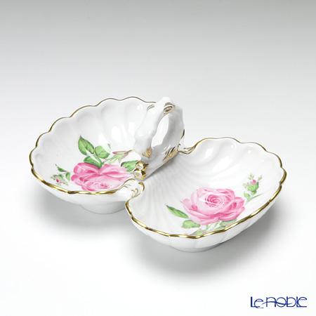 マイセン(Meissen) ピンクのバラ 020110/00204 薬味/レモン入れ H5cm/L11.5cm