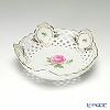 マイセン(Meissen) ピンクのバラ 020192/54880メッシュ飾り皿 18cm
