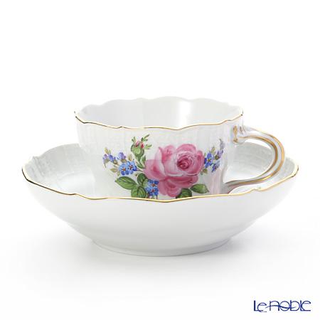 マイセン(Meissen) ピンクのバラ/忘れな草 020810/02582 コーヒーカップ&ソーサー 200cc
