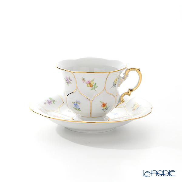 マイセン(Meissen) スキャタードフラワー(金彩縁) 010198/16582 コーヒーカップ&ソーサー 200cc
