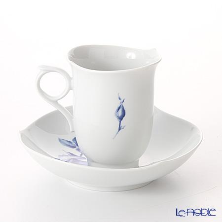 マイセン(Meissen) 青いバラ Aquatinta-Rose 750501/28582コーヒーカップ&ソーサー 180cc