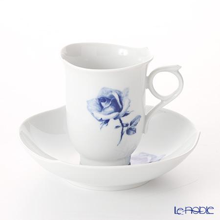 マイセン(Meissen) 青いバラ Aquatinta-Rose 750501/28582 コーヒーカップ&ソーサー 180cc