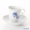 Blue Meissen (Meissen) rose Aquatinta-Rose 750501 / 28582 Coffee Cup & Saucer 180 cc