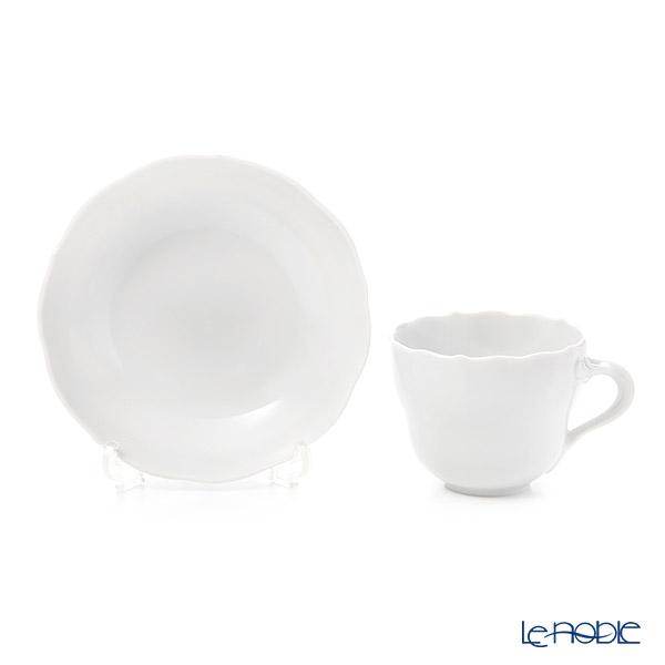 マイセン(Meissen) マイセンホワイト 000001/00580モカカップ&ソーサー 100cc(ノイアー・アウスシュニット)