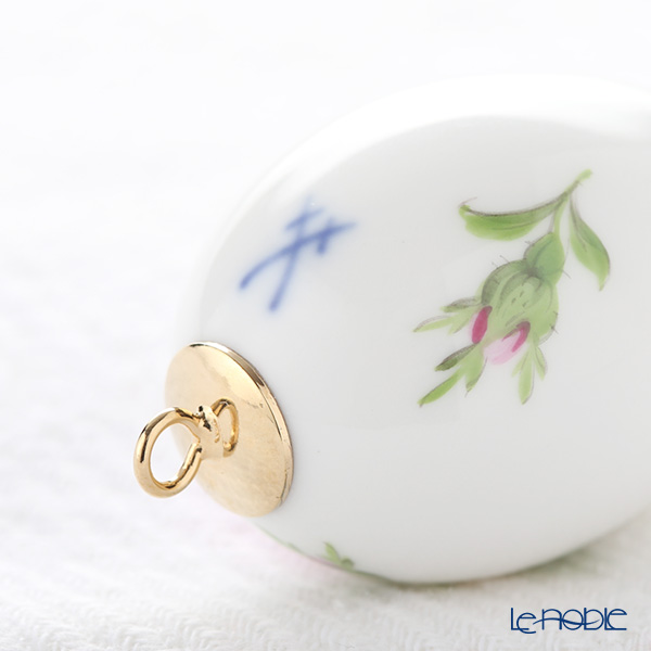 Meissen 'Pink Rose' 020101/55M03 Easter Egg H5cm