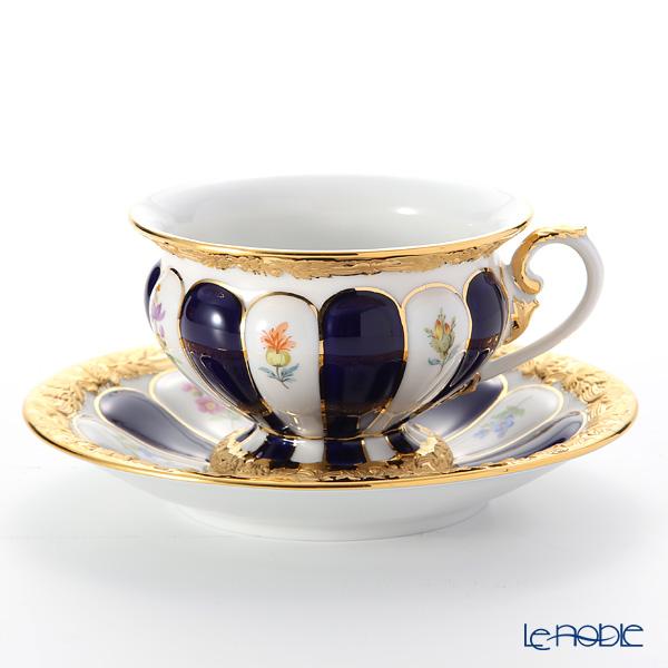 マイセン(Meissen) X-Form (紺金彩) 011079/17582 コーヒーカップ&ソーサー(200cc) 取手半金
