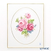 Meissen 'Pink Rose Bouquet Flower' 130110/53N31 Wall Plate / Plaque 20.5x25cm