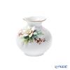 Meissen ''Waves Relief' White Chrismas Rose (Poinsettia) 719391/50903 Vase H9cm